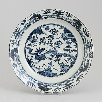 A Chinese porcelin bowl, 20th century.