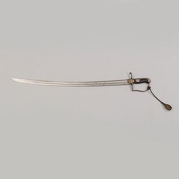 SABEL, svensk, m/1831 för artilleriet, med balja.