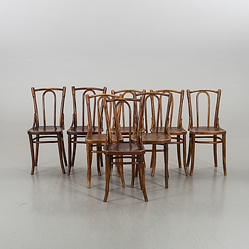 EIGHT COSMOS CHAIRS FROM THE FIRST HALF OF 20TH CENTURY,