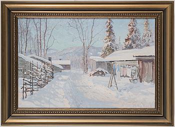ANSHELM SCHULTZBERG, ANSHELM SCHULTZBERG, oil on canvas, signed.