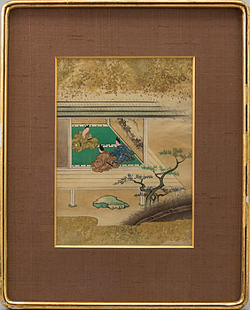 A Japanese painting, Meiji (1868-1912).