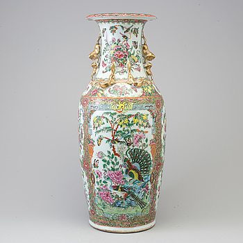 A Chinese famille rose vase, Canton, circa 1900.