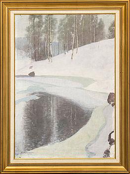 PEKKA HALONEN, oil on canvas, signed P Halonen 1928.