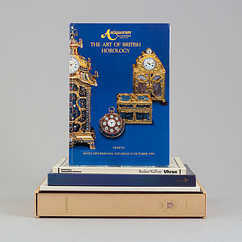 KLOCKLITTERATUR, 5 st, bl.a. A Century of Cartier Wristwatches by George Gordon.