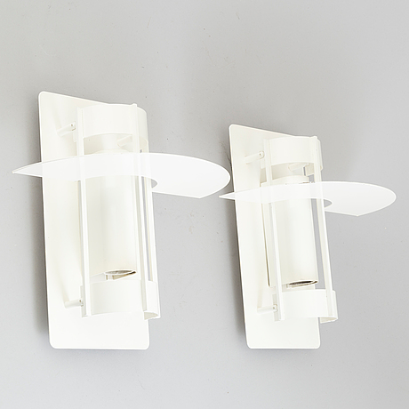 A set of two wall lamps by joachim lepper for louis poulsen, danmark