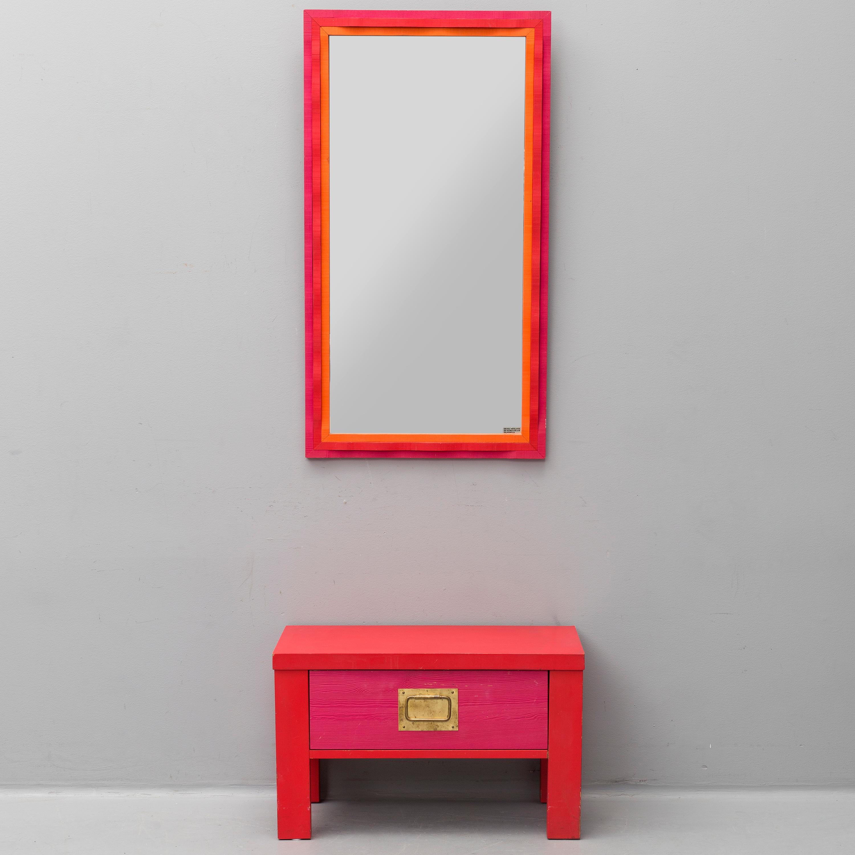 A Mirror And Sideboard By Erik Hoglund For Riksmala Glas Eriksmala