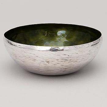 A sterling silver and enamel bowl, Hopeakeskus, Hämeenlinna, Finland 1975.