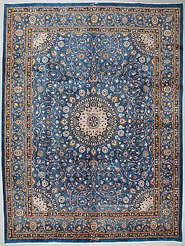 A Kashmar rug, signed, 400 x 299 cm.