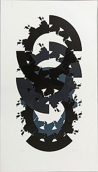 RAUL MEEL, färgserigrafi, signerad och numrerad 49/50, daterad '89.