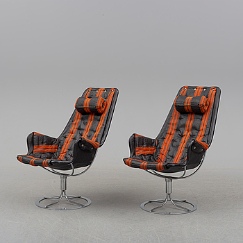 A pair of 'Jetson' easy chairs by Bruno Mathsson for Dux.
