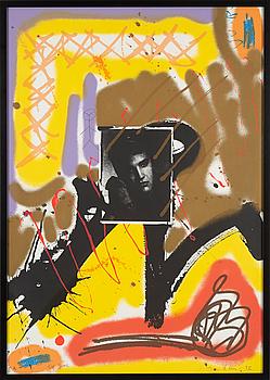 ULF LUNDELL, färgserigrafi, signerad med dedikation, numrerad E.A och daterad -92.