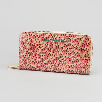 """LOUIS VUITTON plånbok """"Pink Leopard Vernis""""."""