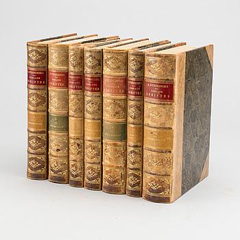 """BÖCKER 30 vol, """"Strindbergs samlade verk""""."""