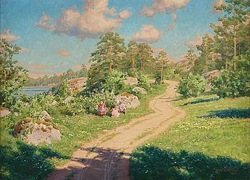 JOHAN KROUTHÉN, olja på duk, signerad och daterad 1920.