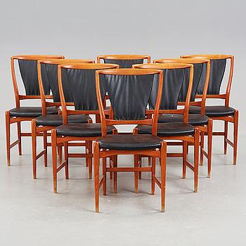 Eight chairs by David Rosén.