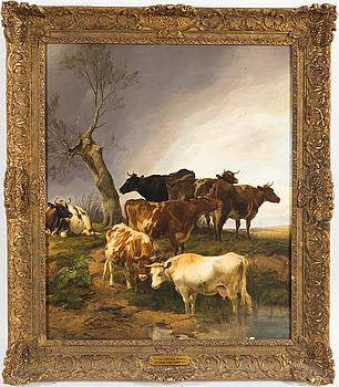 THOMAS SIDNEY COOPER, olja på duk, signerad och daterad 1863.