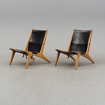 A pair of mid 20th century easy chairs by Östen Kristiansson for Luxus Vittsjö.