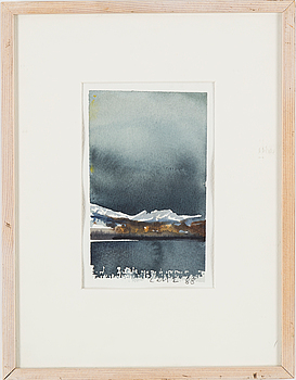 LARS LERIN, akvarell, signerad Lars L och daterad 88.
