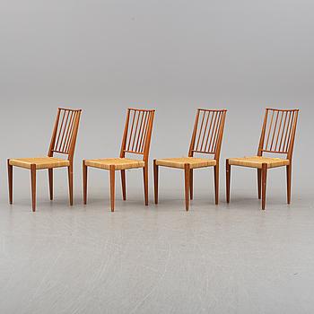 Four model 970 chairs by Josef Frank for Svenskt Tenn.