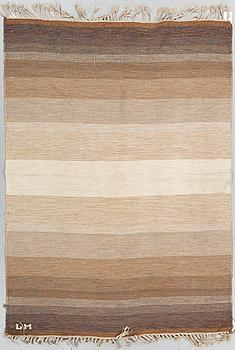 A CARPET, flat weave, ca 195 x 137,5 cm, signed LM. Possibly Sweden.
