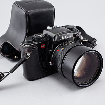KAMERA, Leica R5 med Summilux-R 1:1.4/80, Leitz, Wetzlar.