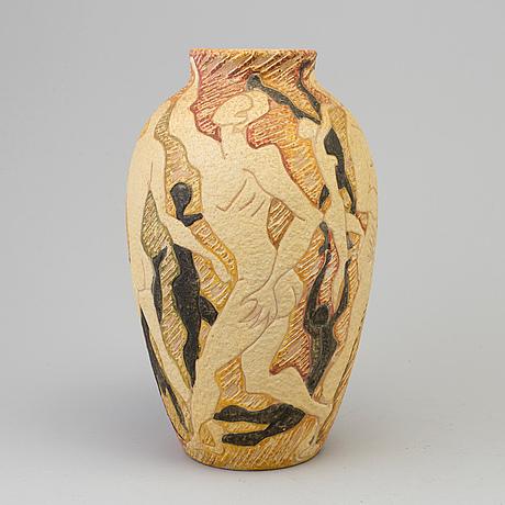 A second half of the 20th century erathenware vase by fantoni, italy