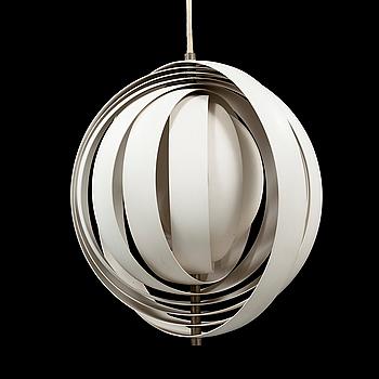 "VERNER PANTON, taklampa, ""Moon lamp"", 1900-talets andra hälft."
