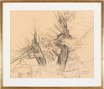 EERIK HAAMER, teckning, signerad och daterad -51.
