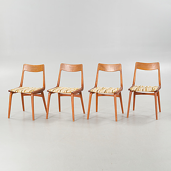 Four chairs, model 370, designed by Alfred Christiansen for Slagelse Møbelvaerk, second half of the 20th cenutry.