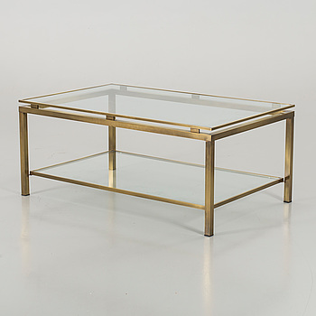 A TOP GLASS COFFEE TABLE. SECOND HALF OF 20TH CENTURY.
