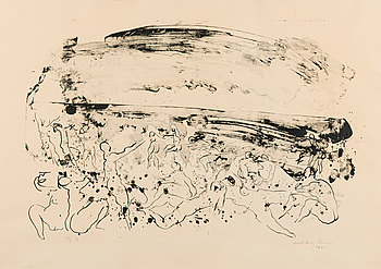 UNTO KOISTINEN, litografi, signerad och daterad 1967, numrerad 39/50.