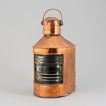 A 20th century copper lantern.