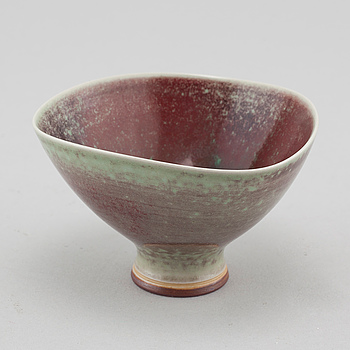 A stoneware bowl, designed by Berndt Firberg for Gustavsberg Studio, unclear letter for date.