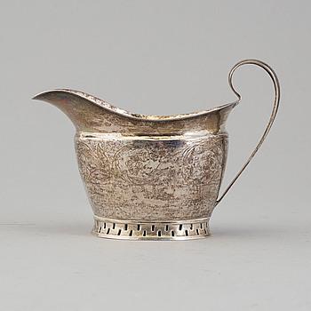 GRÄDDKANNA, silver, Pehr Abraham Taxberg, Sundsvall 1837.