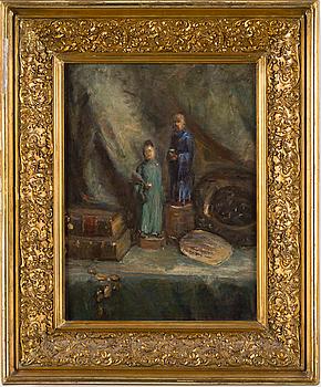 KERSTIN CARDON, tillskriven, olja på pannå.