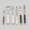 37 pieces of cutlery, partly melron, france, second half of the 20th century
