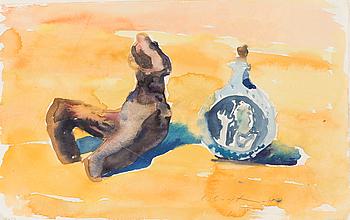 LEENA LUOSTARINEN, akvarell, signerad och daterad -78.