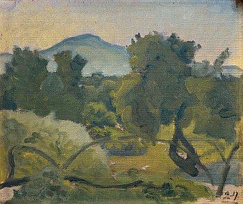 "425. IVAN AGUÉLI, ""Egyptiskt landskap""."
