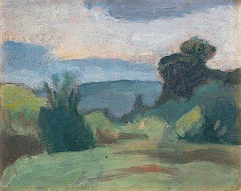 "347. IVAN AGUÉLI, ""Landskap"" (Landscape)."