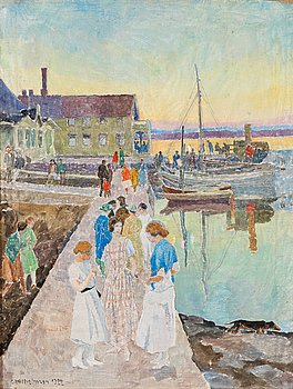 "323. Carl Wilhelmson, ""På stora bryggan"" (On the Grand Jetty)."