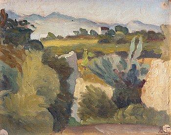 """348. IVAN AGUÉLI, """"Spanskt landskap"""" / """"Landskap med buskvegetation"""" (Spanish Landscape / Landscape with Shrubs)."""