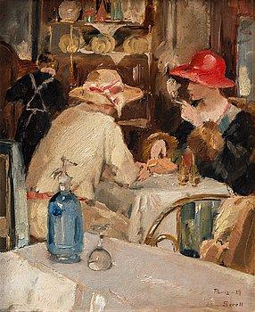327. Greta Gerell, Restaurant scene, Paris.