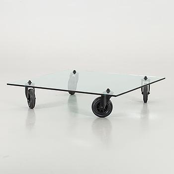 "COFFEE TABLE ""Tavolo con ruote"", Fontana Arte,"