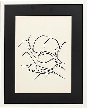PABLO PALAZUELO, färglitografi, ur Derrière le Miroir nr 137 1963.
