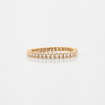 RING, A brilliant cut diamond ring.
