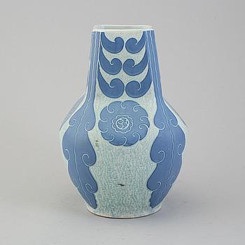 JOSEF EKBERG, JOSEF EKBERG, Sgrafitto stoneware vase from Gustafsberg, signed and dated 1920.