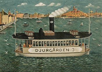 GÖSTA GUSTAVSON, färglitografi, signerad, numrerad 200/300 och daterad 1981.