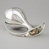 Kay fisker, a sterling silver pitcher, by anton michelsen, copenhagen, denmark 1967