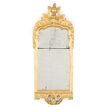 An end of the 18th century Gustavian mirror.