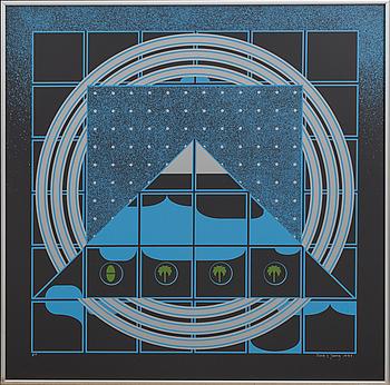 BECK & JUNG, screentryck, signerad och numrerad EA, daterad 1976.